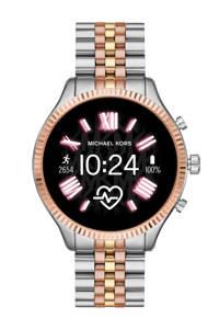 Michael Kors Lexington 2 Gen 5 Dames Display Smartwatch MKT5080, Rosé/goud/zilver