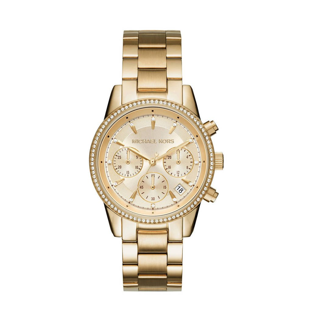 Michael Kors horloge MK6356 Ritz goud, Goudkleurig