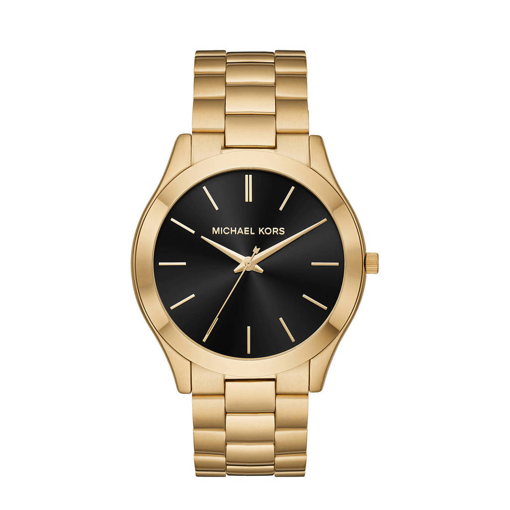 Michael Kors horloge MK8621 Slim Runway goud, Goudkleurig