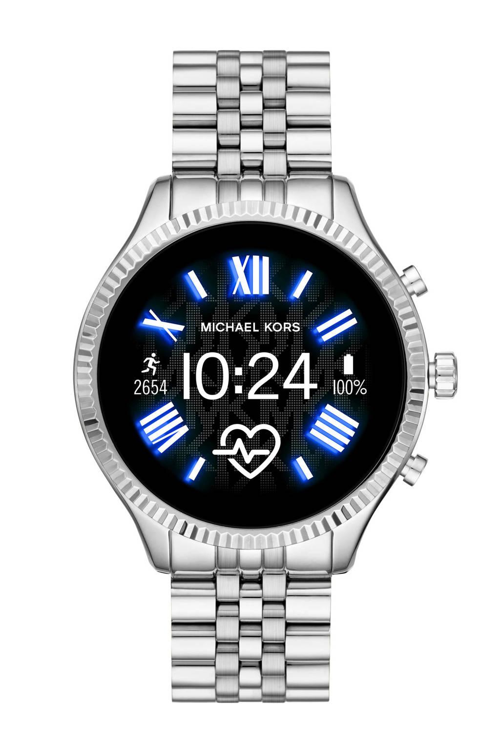Michael Kors Lexington 2 Gen 5 Dames Display Smartwatch MKT5077, Zilver