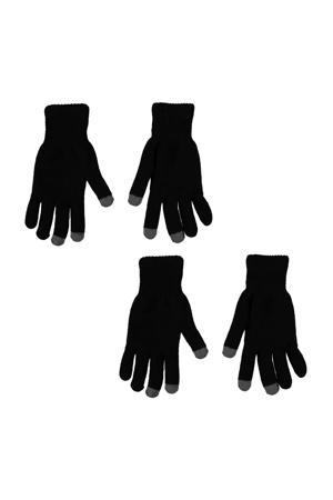 thermo handschoenen- set van 2 zwart