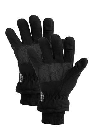 thermo handschoenen - set van 2 zwart