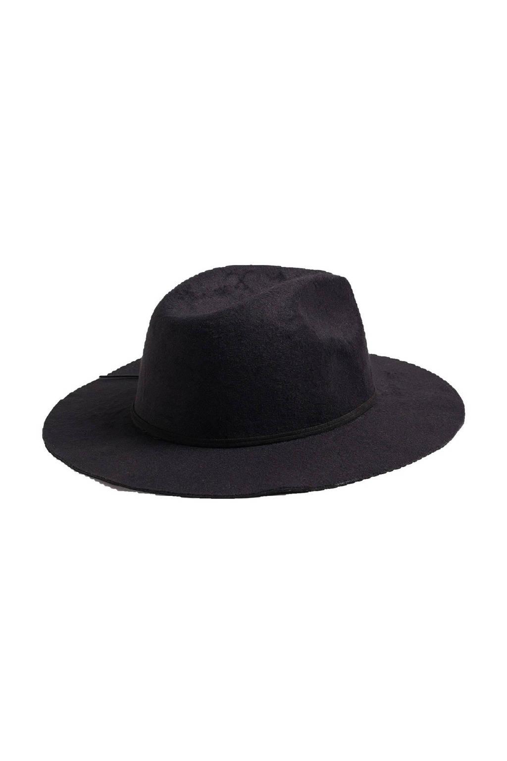 WE Fashion hoed zwart, Zwart
