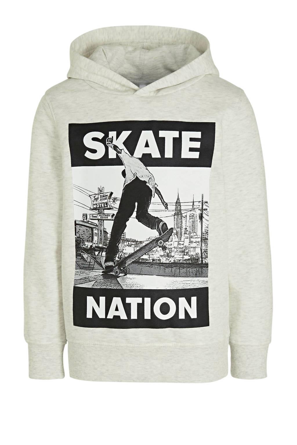 C&A hoodie met printopdruk ecru/zwart/wit, Ecru/zwart/wit