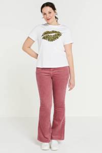 Simply Be T-shirt met printopdruk wit, Wit