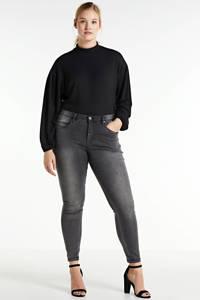 Simply Be ribgebreide top zwart, Zwart