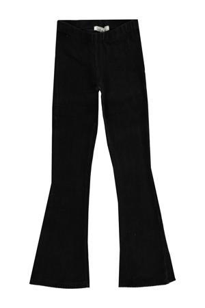 corduroy high waist broek ZUMA zwart