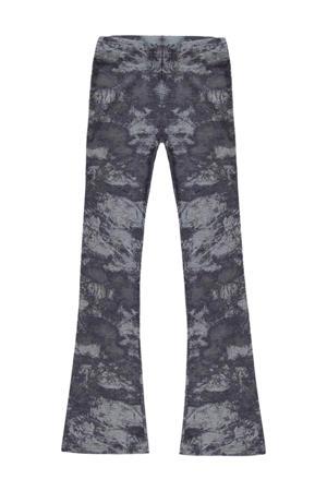tie-dyehigh waist broek Zuma grijs