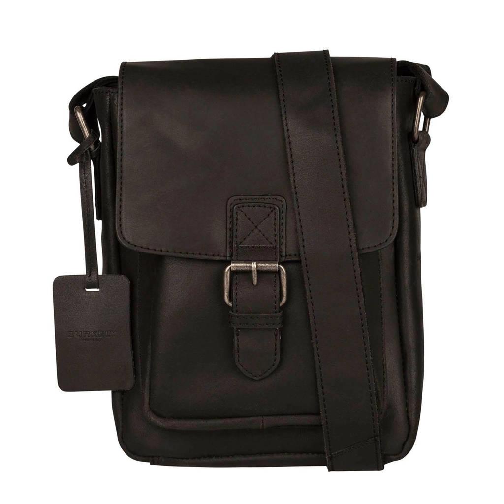 BURKELY  leren crossbody tas Vintage Luke zwart, Zwart