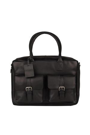 15.6 inch leren busines tas Vintage Taylor zwart