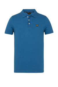 PME Legend slim fit polo blauw, Blauw
