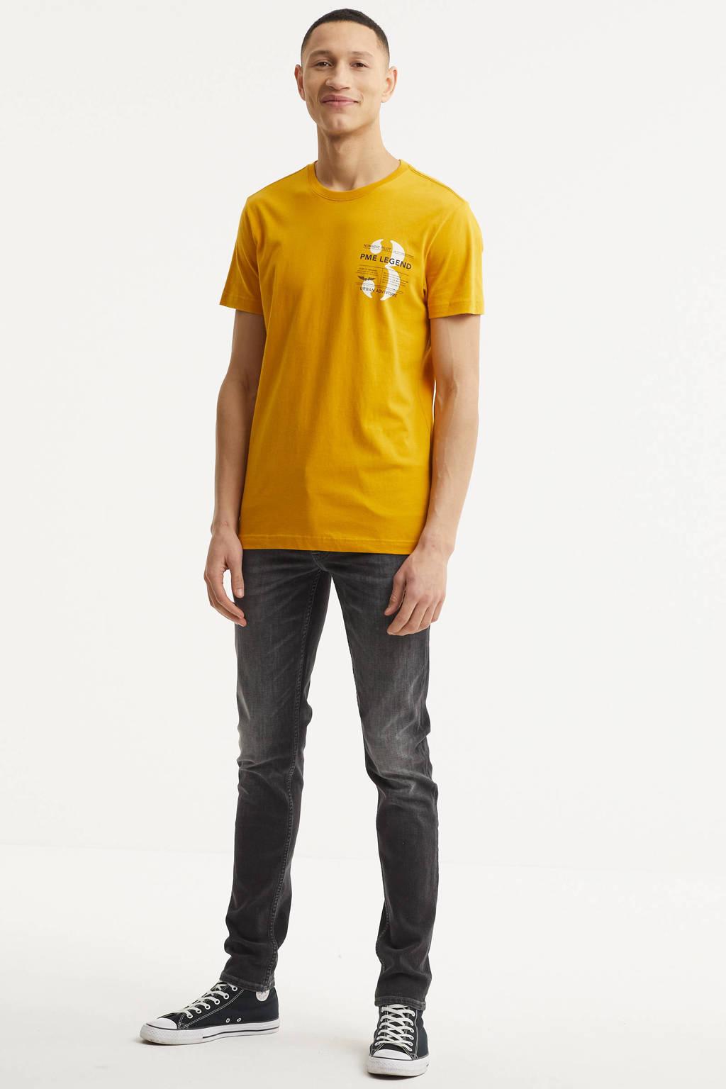 PME Legend T-shirt met logo geel, Geel