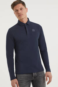 PME Legend regular fit polo met logo donkerblauw, Donkerblauw