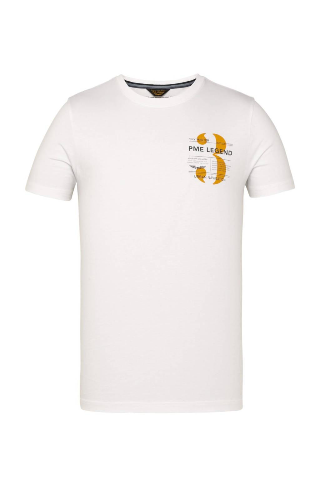 PME Legend T-shirt met logo wit, Wit