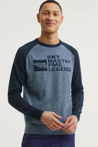PME Legend trui met logo donkerblauw, Donkerblauw