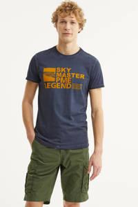 PME Legend T-shirt met logo donkerblauw, Donkerblauw