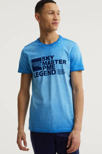 PME Legend T-shirt met logo lichtblauw, Lichtblauw