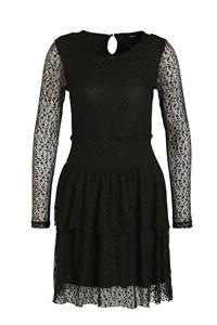 LMTD semi-transparante jurk Sace met kant zwart, Zwart