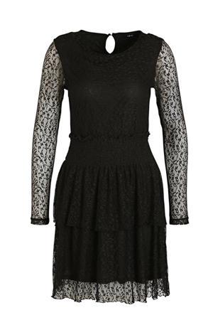 semi-transparante jurk Sace met kant zwart