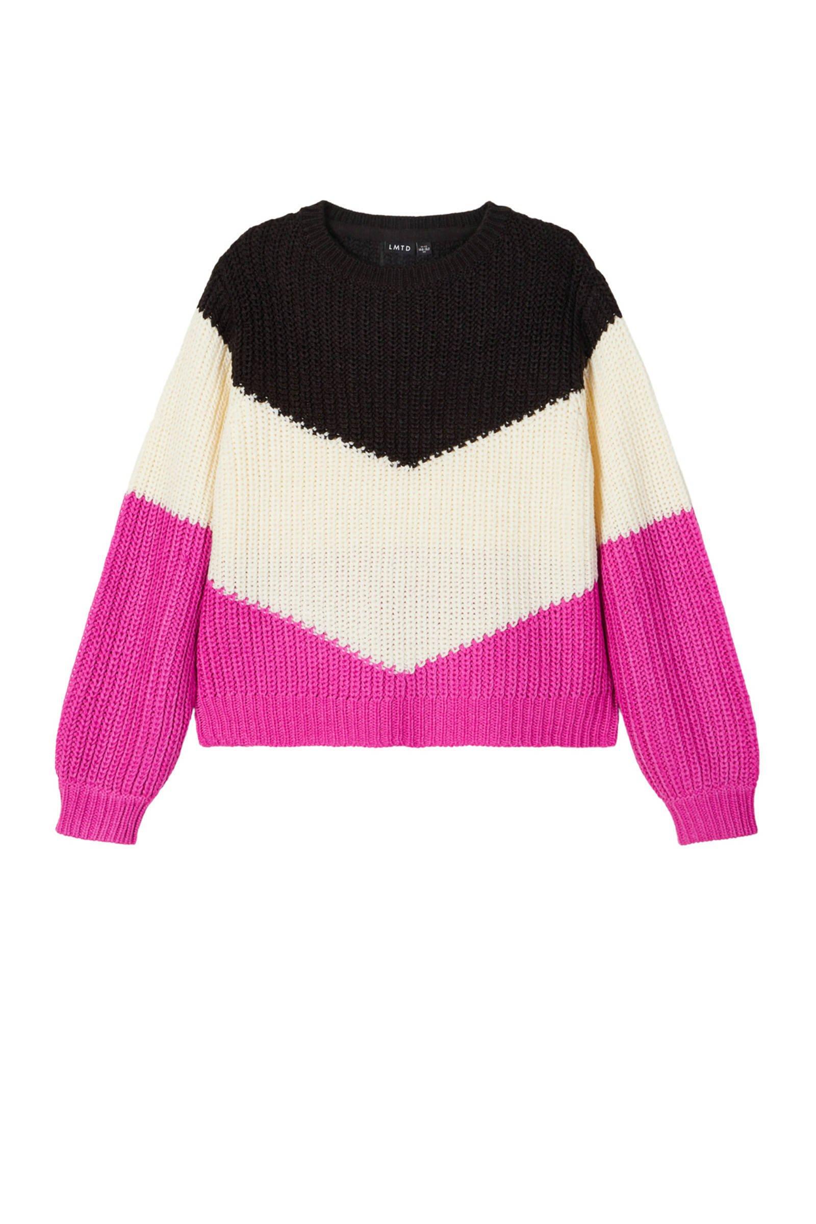 HEMA baby gebreide trui met stippen roze | wehkamp