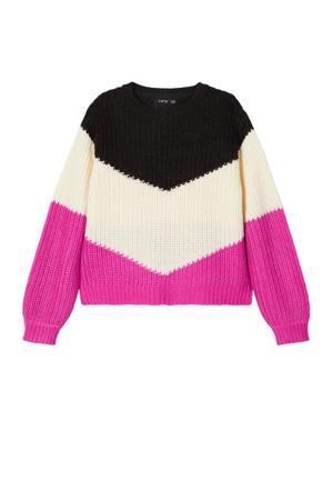 trui Omiar roze/zwart/ecru