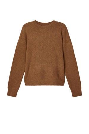 trui Nonette van gerecycled polyester bruin