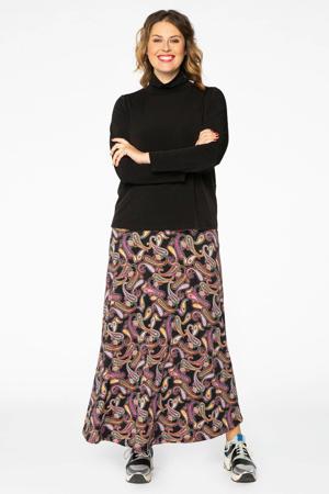 rok met paisleyprint zwart/multi
