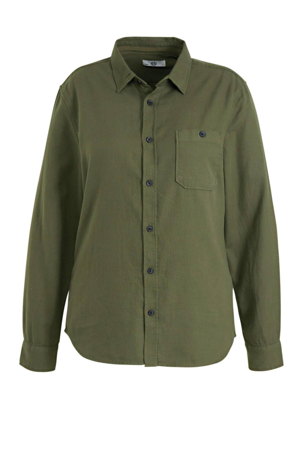 C&A Angelo Litrico slim fit overhemd olijfgroen, Olijfgroen