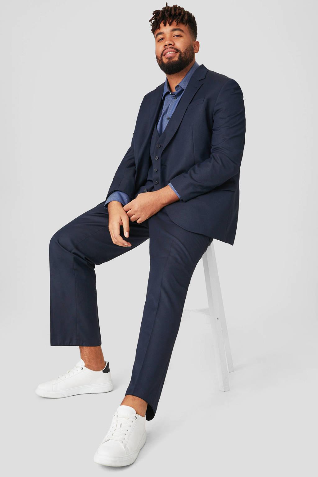 C&A XL regular fit overhemd met all over print blauw, Blauw