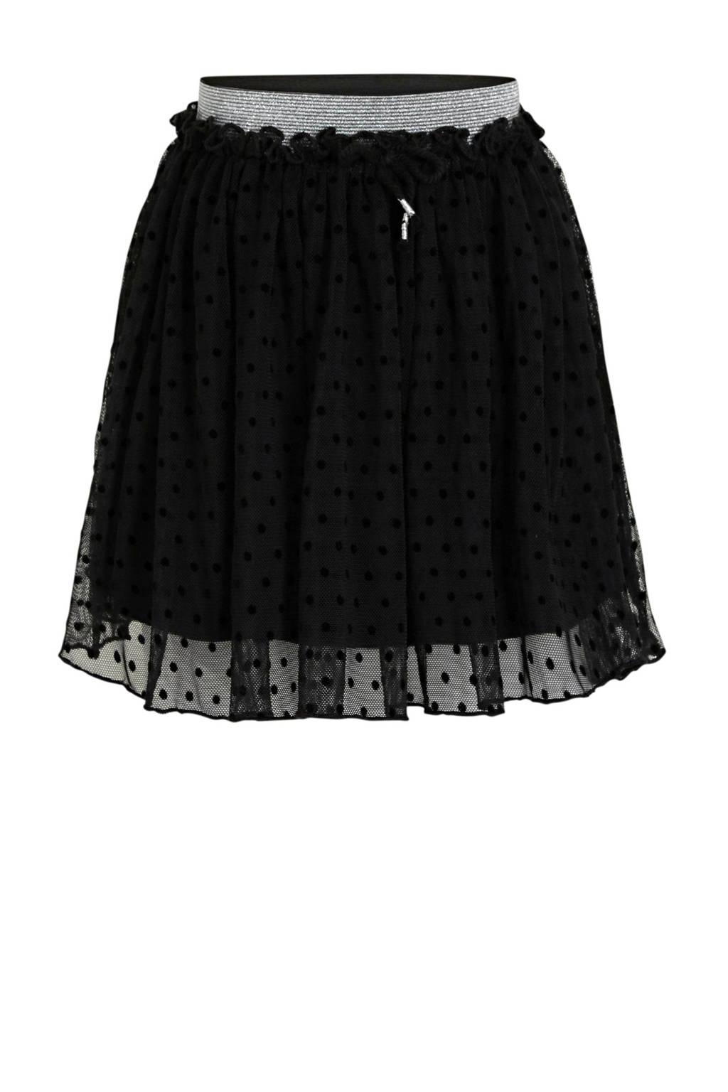 C&A XL Yessica rok met stippen zwart/zilver, Zwart/zilver