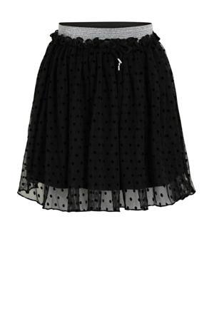 rok met stippen zwart/zilver