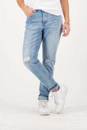 high waist skinny jeans Oceans light denim
