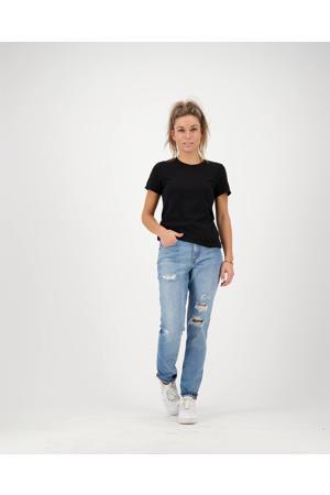 T-shirt Orleans met logo zwart