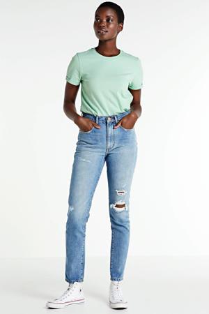 high waist skinny jeans Oceans blauw