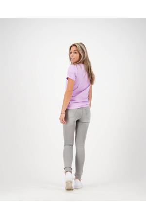 T-shirt Orleans met logo lila