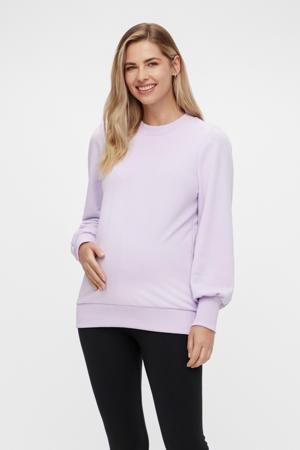 zwangerschapssweater Karli van gerecycled polyester lila