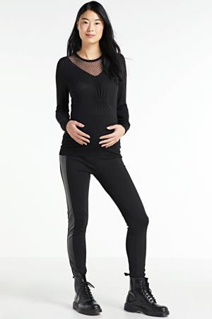 zwangerschapslegging New addy met zijstreep zwart