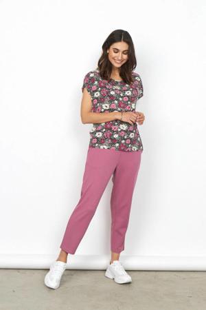 gebloemd T-shirt Sammy roze