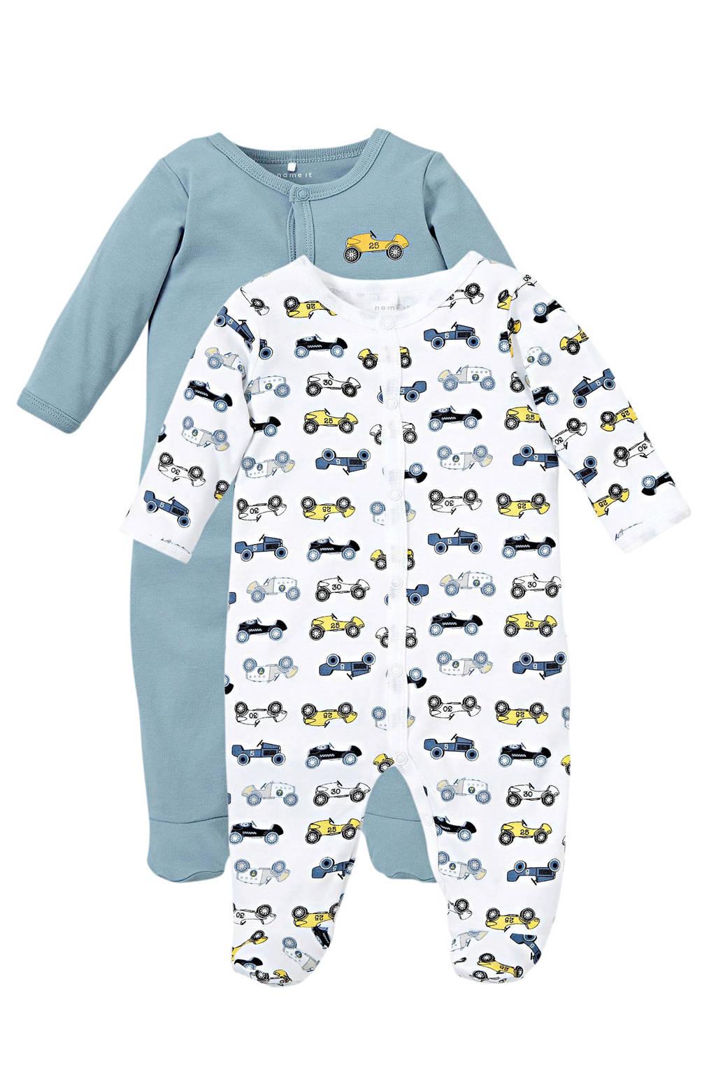 NAME IT BABY baby boxpak - (set van 1), Blauw/wit/geel