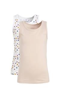 NAME IT MINI hemd - set van 2 zalmroze/wit
