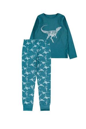 pyjama dino's blauw