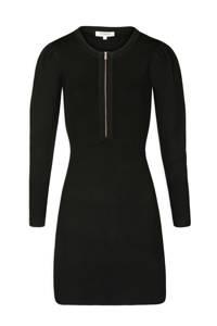 Morgan fijngebreide jurk zwart, Zwart