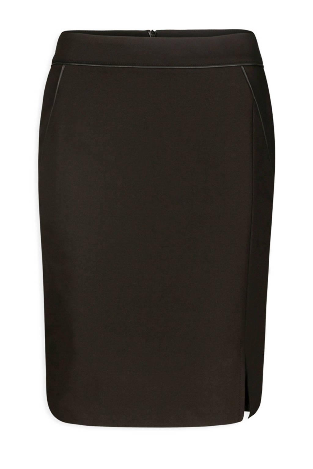 Morgan rok met contrastbies zwart, Zwart