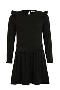NAME IT KIDS jurk Fruda met glitters zwart, Zwart