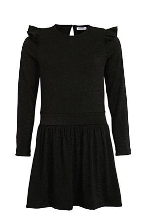 jurk Fruda met glitters zwart