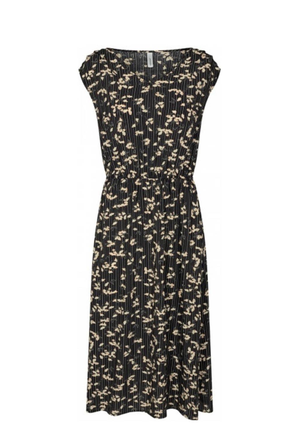 Soyaconcept jurk Ohio met all over print zwart, Zwart