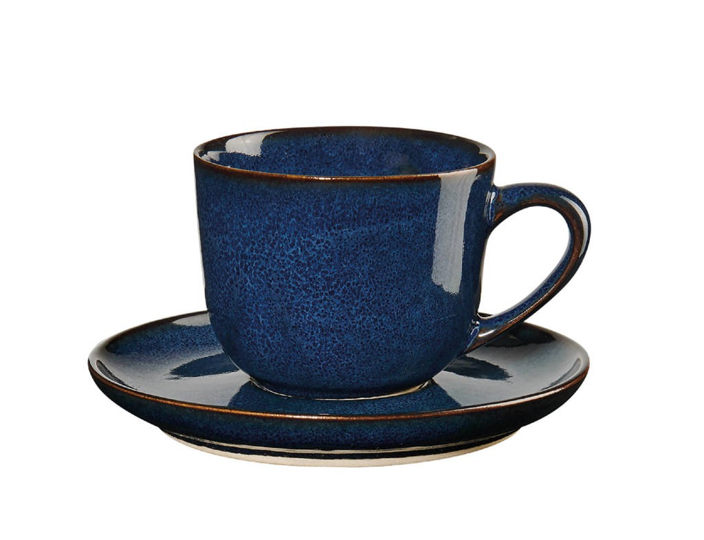 ASA Selection espressokopje en schotel (9 cl), Donkerblauw, 90