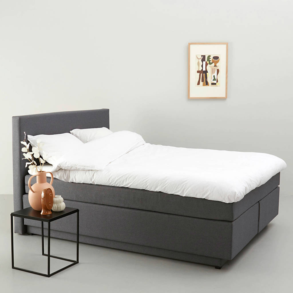 whkmp's own complete boxspring Oslo (180x200 cm), Grijs