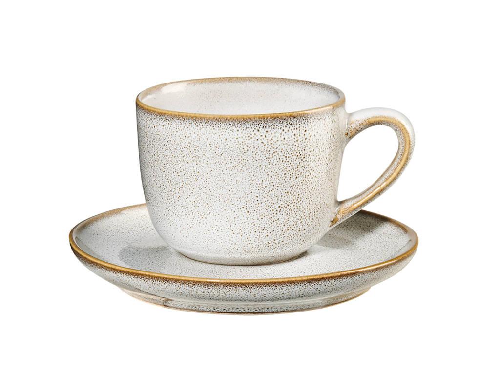 ASA Selection espressokop en schotel (9 cl), Creme, 90