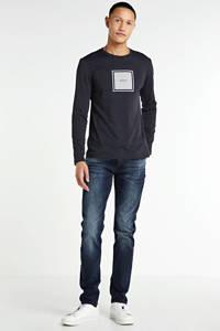 Antony Morato longsleeve met logo donkerblauw, Donkerblauw